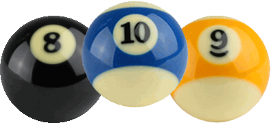 8-ball, 9-ball and 10-ball pool leagues