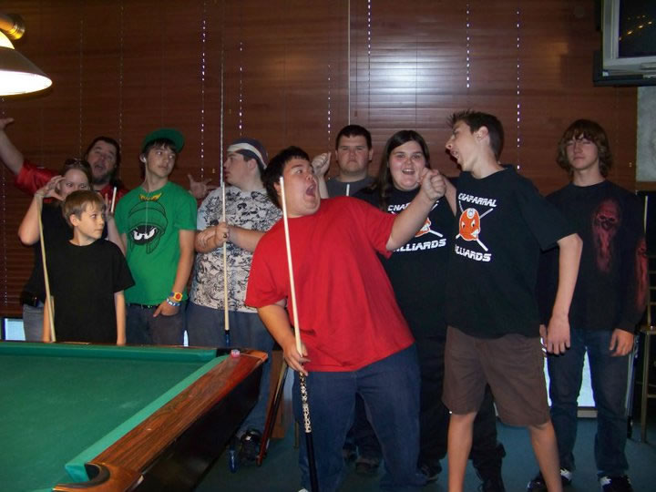 junior 8-ball pool tournament players