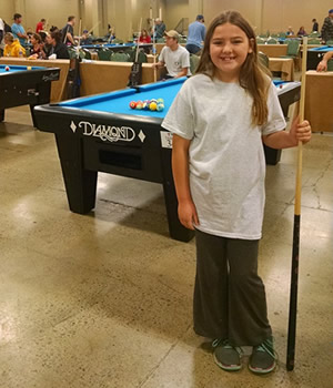 youngest pool player