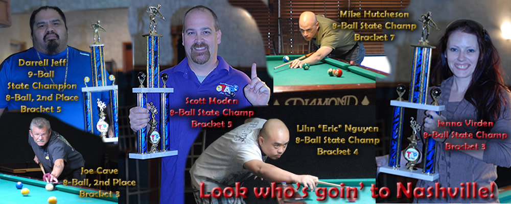8-ball and 9-ball tournament winners